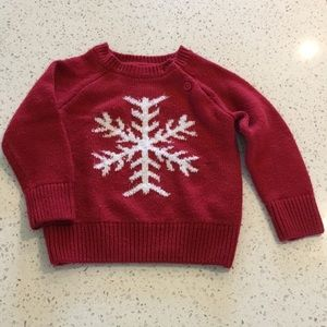 Joe Fresh Red Snowflake Sweater